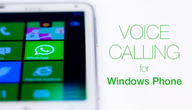 WhatsApp улучшил качество голосовых звонков для Windows Phone