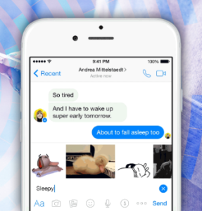 GIF-изображения в диалогах Facebook Messenger