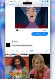 Facebook Messenger привязывается к Giphy и Riffsy