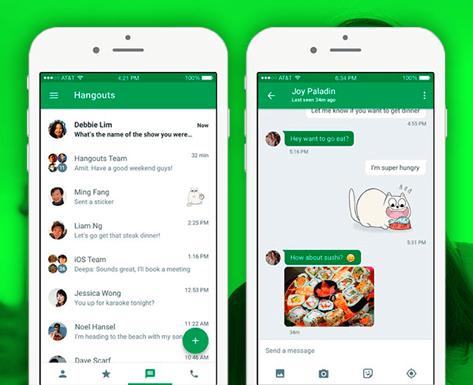 Обновление Hangouts под iOS