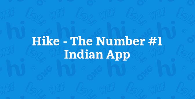 Hike признали лучшим индийским мессенджером