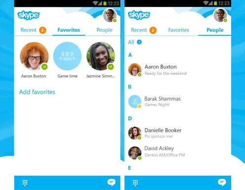 Новая версия Skype на Android позволит находить чаты быстрее