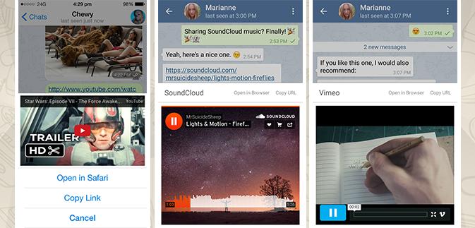 Новая версия российского Telegram для iOS и Android