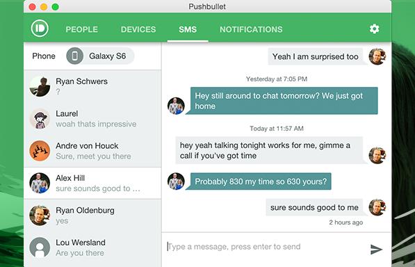 Новая версия мессенджера Pushbullet для Android