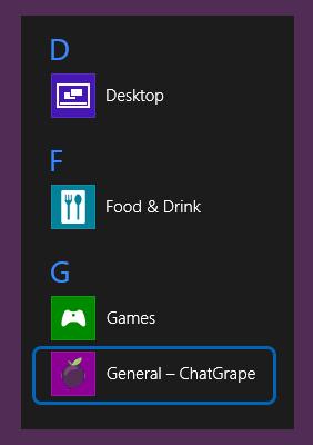 Иконка ChatGrape на стартовой экране Windows