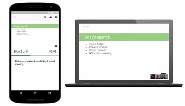 Google разрешил транслировать презентации в видеозвонках
