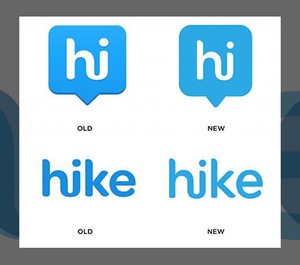 Логотип Hike эволюционирует