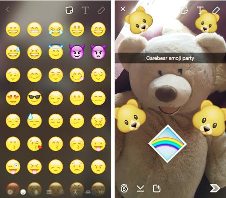 Новые настройки эмодзи в Snapchat