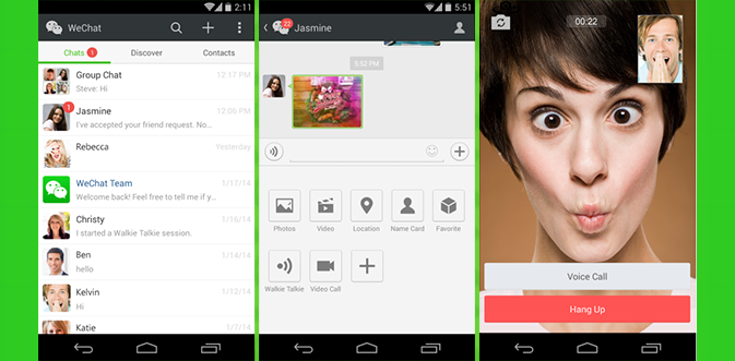 WeChat стремительно обходит конкурентов