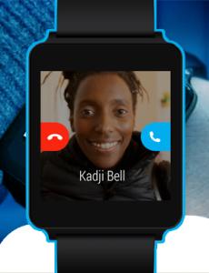 Skype подружился с Android-часами