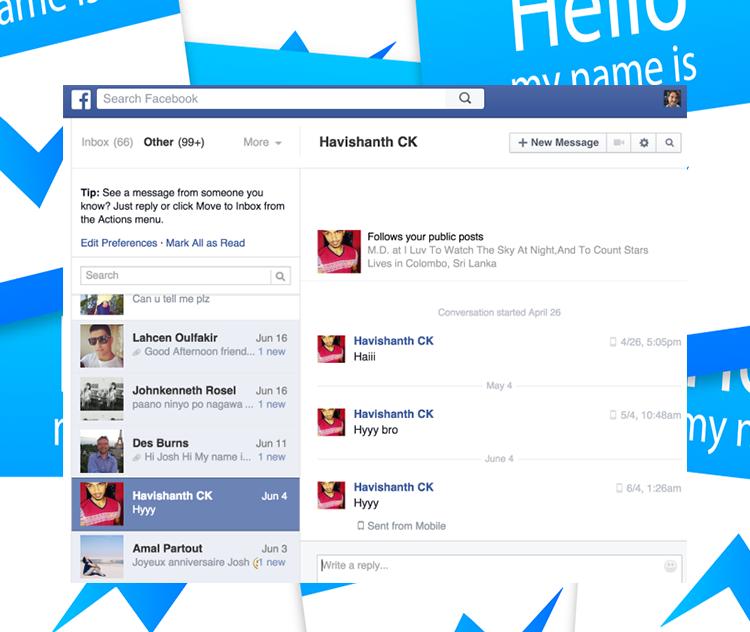 Facebook Messenger поможет в общении с незнакомцами