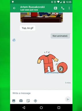 Hangouts 5.0 порадует своих пользователей GIF-анимацией