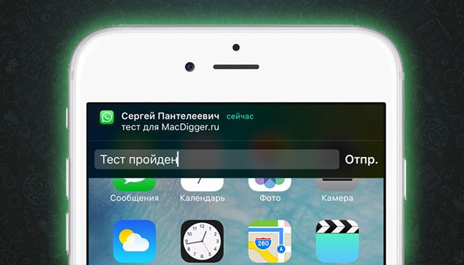 Функция быстрых ответов iOS 9 станет доступна с новым обновлением WhatsApp