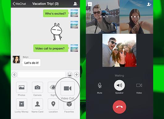 Звоните друзьям в групповых чатах с новой версией WeChat для iOS