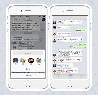 Обновленный Telegram обзавелся новыми функциями