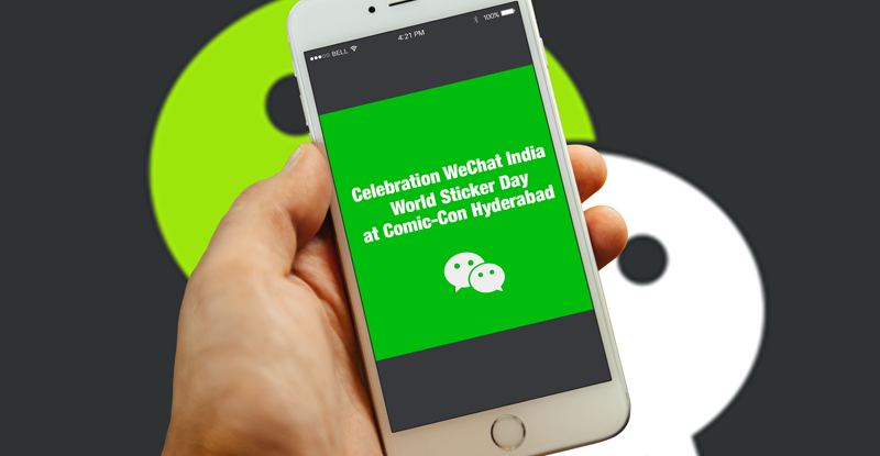 В Индии WeChat отметил мировой день стикера