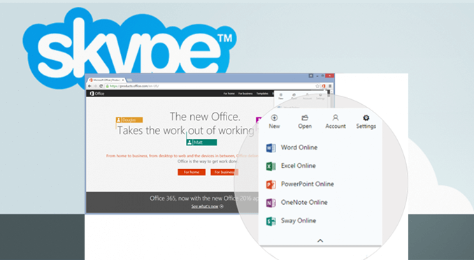 Пользователи Microsoft смогут общаться посредством Skype прямо из документов