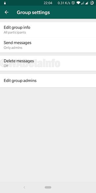 WhatsApp удаление сообщений